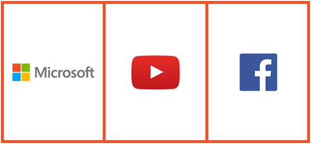 microsoft youtube facebook logo design
